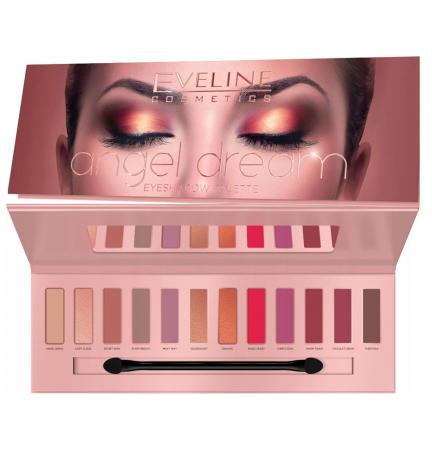 Paleta Profesionala de Farduri EVELINE Angel Dream Eyeshadow Palette, 12 nuante, 12 g