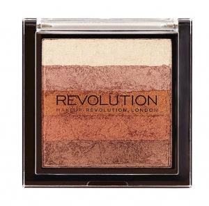 Paleta Iluminatoare Bronzanta MAKEUP REVOLUTION Shimmer Brick, Bronze Kiss, 7 gr