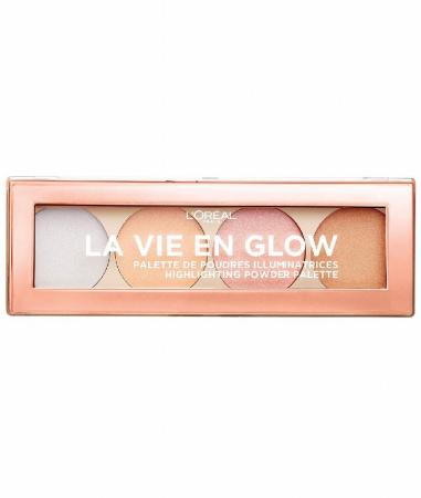 Paleta Iluminatoare L'Oreal Paris La Vie En Glow Highlighting Powder Palette 2, Cool Glow, 15 g