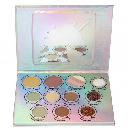 Paleta Iluminatoare Cu Glittere Multifunctionale, Rainbow Unicorn