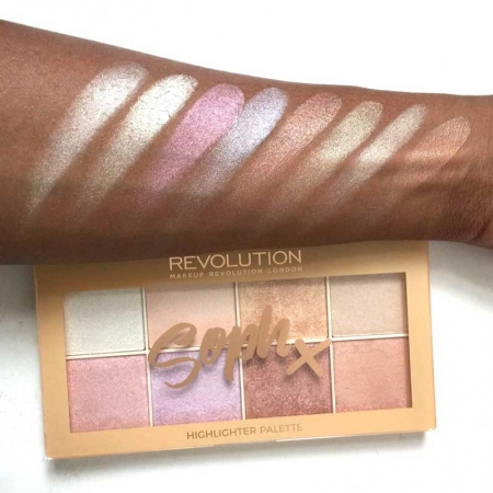 Paleta Iluminatoare Makeup Revolution Soph X Highlighter Palette, 8 nuante x 2g4