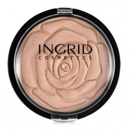 Pudra Minerala Iluminatoare Ingrid HD, Make-up Shimmer Powder, 25 g0