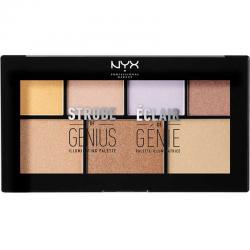 Paleta iluminatoare NYX Professional Makeup Strobe of Genius Illuminating Palette, 7x2g