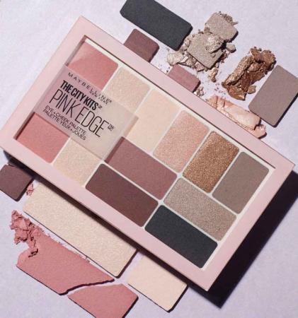 Paleta multifunctionala pentru pleoape si pometi Maybelline New York City Kits, Pink Edge, 12 g5
