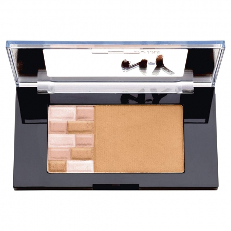 Paleta Pentru Bronz Si Iluminare Maybelline FaceStudio Bricks Bronzer - 01 Blondes, 7 gr1