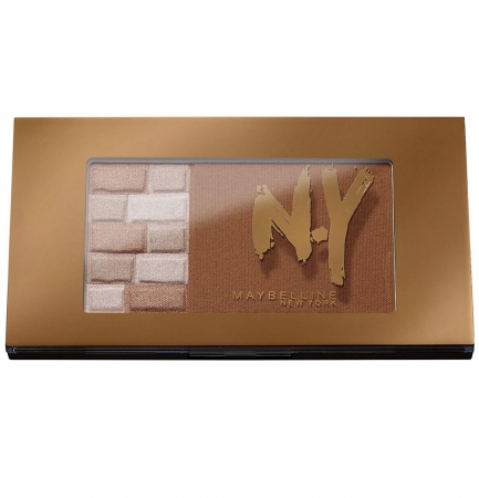 Paleta Pentru Bronz Si Iluminare Maybelline FaceStudio Bricks Bronzer - 02 Brunettes, 7 gr