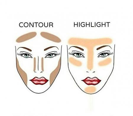 Paleta Pentru Conturarea Fetei NYX Professional Makeup Highlight & Contour, Light3