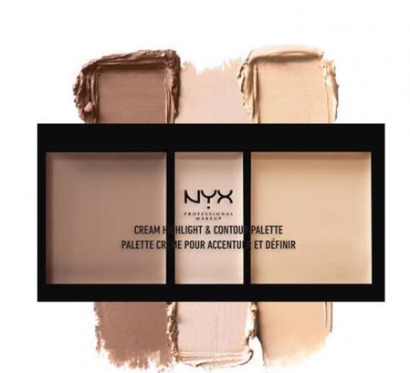 Paleta Pentru Conturarea Fetei NYX Professional Makeup Highlight & Contour, Light4