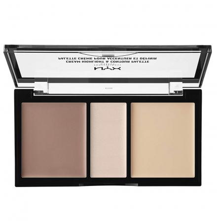Paleta Pentru Conturarea Fetei NYX Professional Makeup Highlight & Contour, Light2