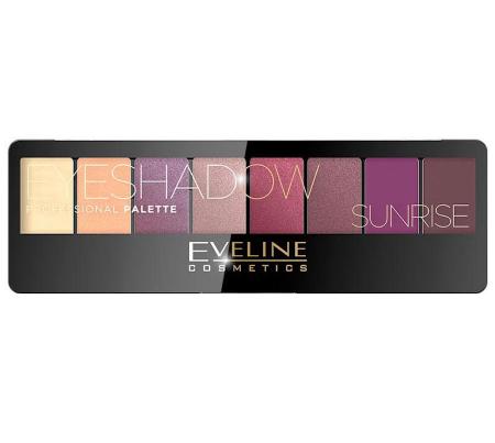 Paleta Profesionala de Farduri EVELINE Sunrise Eyeshadow Palette, 8 nuante