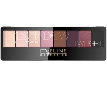 Paleta Profesionala de Farduri EVELINE Twilight Eyeshadow Palette, 8 nuante0
