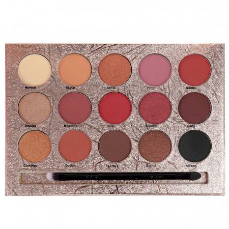 Paleta Profesionala de Farduri KISS CROWN, Gladshein, 15 Color Eyeshadow Palette1