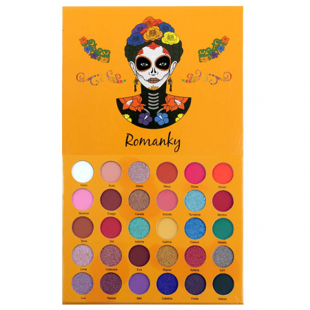 Paleta Profesionala de Farduri Romanky, 30 Color Eyeshadow Palette, 36 g