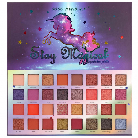 Paleta Profesionala de Farduri Stay Magical, 32 Color Eyeshadow Palette, 35 g