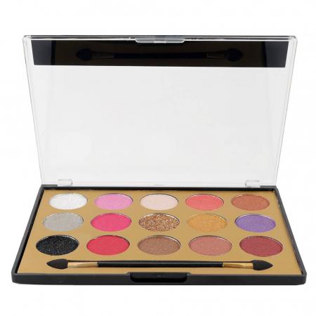 Paleta Profesionala de Farduri MISS ROSE, 15 Color Eyeshadows Kit, 021