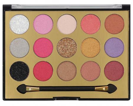 Paleta Profesionala de Farduri MISS ROSE, 15 Color Eyeshadows Kit, 02