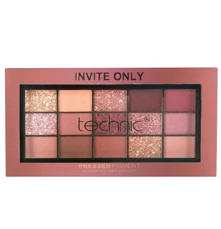 Paleta Profesionala de Farduri Technic 15 Pressed Pigment Palette, Invite Only, 15 Culori, 21.9 g