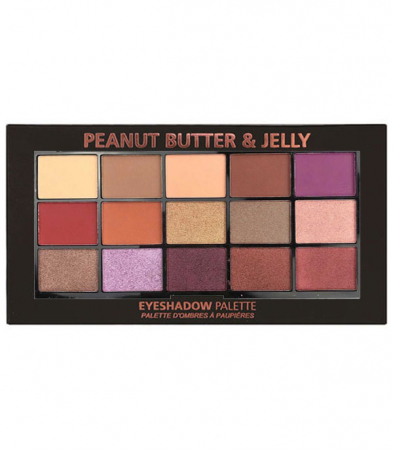 Paleta Profesionala de Farduri Technic 15 Pressed Pigment Palette, Peanut Butter & Jelly, 15 Culori, 30 g