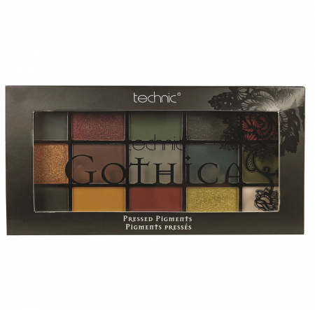 Paleta Profesionala de Farduri Technic 15 Pressed Pigment Palette, GOTHICA, 15 Culori, 30 g1