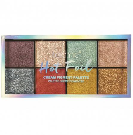 Paleta Profesionala de Farduri Technic 8 Cream Pigment Palette, HOT FOIL, 8 Culori, 30 g1