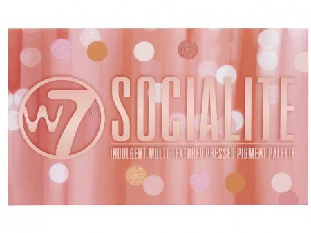 Paleta Profesionala de Farduri W7 Socialite Pigment Palette, 18 Culori, 17 g3