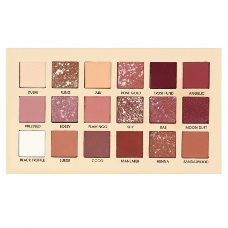 Paleta Profesionala de Farduri Flamingo Via Letvass, 18 Color Eyeshadow Palette, 18 x 1.5 g2