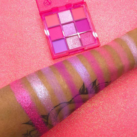 Paleta Profesionala de Farduri W7 Vivid Pressed Pigment Palette Punchy Pink, 9 culori, 9 g2