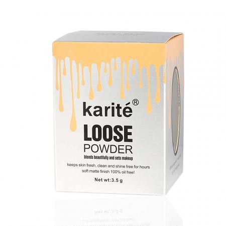 Iluminator pudra cu pompita Vintage, Karite Loose Powder, 03 Vanilie, 3.5 g1