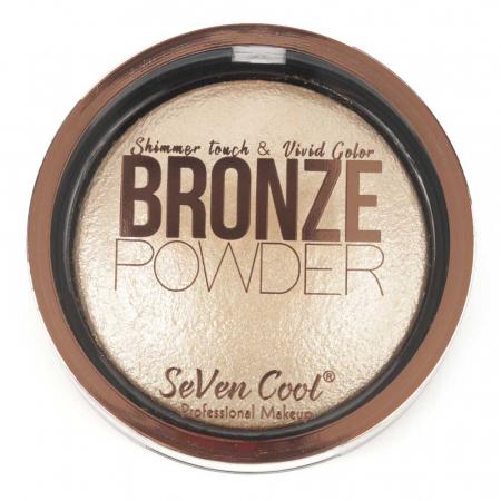Pudra Profesionala Iluminatoare, Seven Cool, Bronze Powder, Shimmer Touch, 01 Vanilla