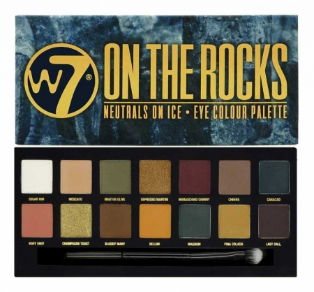 Paleta farduri W7 On The Rocks Eye Colour Palette, Neutrals on Ice, 14 culori, 9.6g