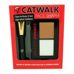 Paleta Pentru Conturarea Si Iluminarea Fetei  W7 CATWALK Face Shaper, 9 gr