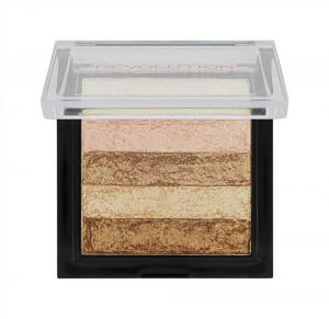 Paleta Iluminatoare Bronzanta MAKEUP REVOLUTION Shimmer Brick Radiant1