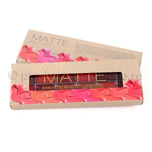 Paleta Profesionala Cu 12 Rujuri Mate Romantic Beauty - 021