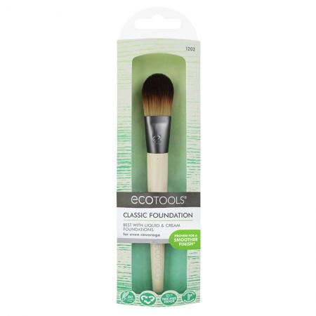 Pensula machiaj Ecotools  Classic Foundation Brush pentru aplicarea fondului de ten