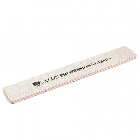 Pila profesionala pentru unghii Salon Professional, granulatie 100/180, tip dreptunghi