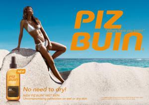 Spray Protectie Solara PIZ BUIN Wet Skin 150 ml cu SPF 302