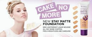 Fond De Ten Rimmel Stay Matte Liquid Mousse - 200 Soft Beige, 30 ml1