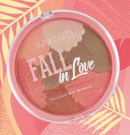 Pudra Bronzanta Iluminatoare SUNKISSED Fall In Love, 28.5 g3