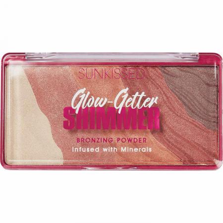 Pudra Bronzanta Iluminatoare SUNKISSED Glow-Getter Shimmer, 20 g