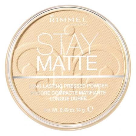 Pudra matifianta rezistenta la transfer RIMMEL Stay Matte, 003 Peach Glow, 14g