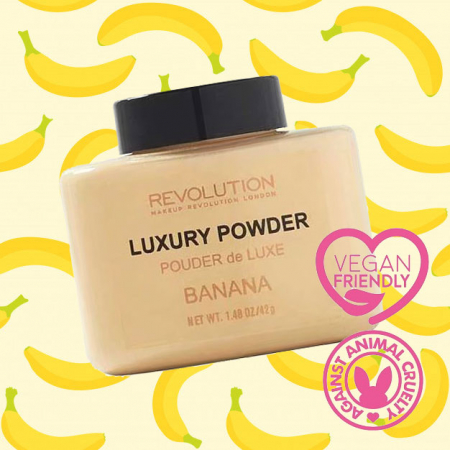 Pudra cu minerale matifianta MAKEUP REVOLUTION Luxury Banana Powder, 42g2