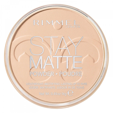 Pudra matifianta rezistenta la transfer RIMMEL London Stay Matte, 012 Buff Beige, 14 g