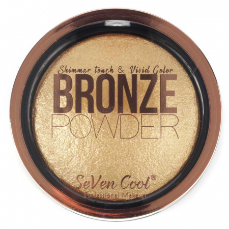 Pudra Profesionala Iluminatoare, Seven Cool, Bronze Powder, Shimmer Touch, 04 Gold