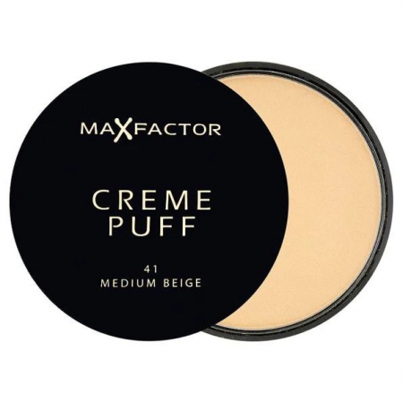 Pudra Max Factor Creme Puff Compact, 41 Medium Beige, 21 g