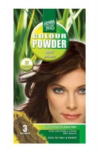 Pudra De Par Permanenta Naturala HennaPlus - 57 Dark Brown