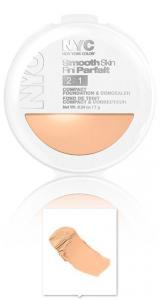 Fond De Ten Si Corector 2 in 1 N.Y.C Smooth Skin - 001 Ivory
