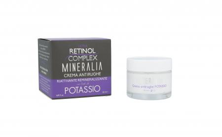 Crema antirid reparatoare remineralizanta cu SARURI DE POTASIU, Mineralia, 50 ml