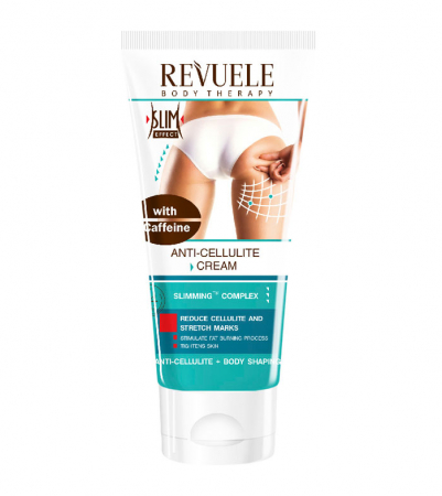 Crema anticelulitica cu cafeina REVUELE Slim & Detox, Anti-Cellulite Cream with Caffeine, Slimming Complex, 200 ml