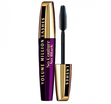 Rimel L'oreal Volume Million Lashes So Couture Mascara, So Black, 9.5 ml