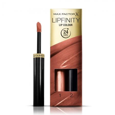 Ruj de buze rezistent la transfer Max Factor Lipfinity, 191 Stay Bronzed, 2.3 ml + 1.9 g